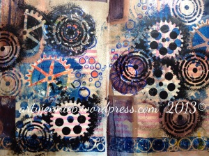 Mixed media cogs