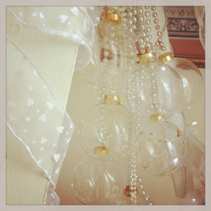 Glass bauble chandelier