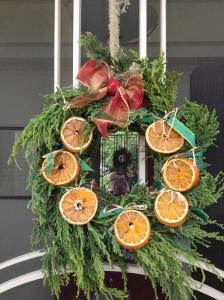 Wreath with oranges