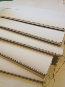 Folded and sewn pages