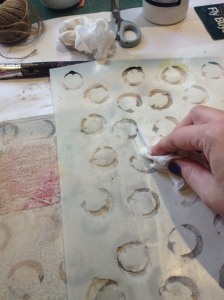 Reomving gesso with baby wipes